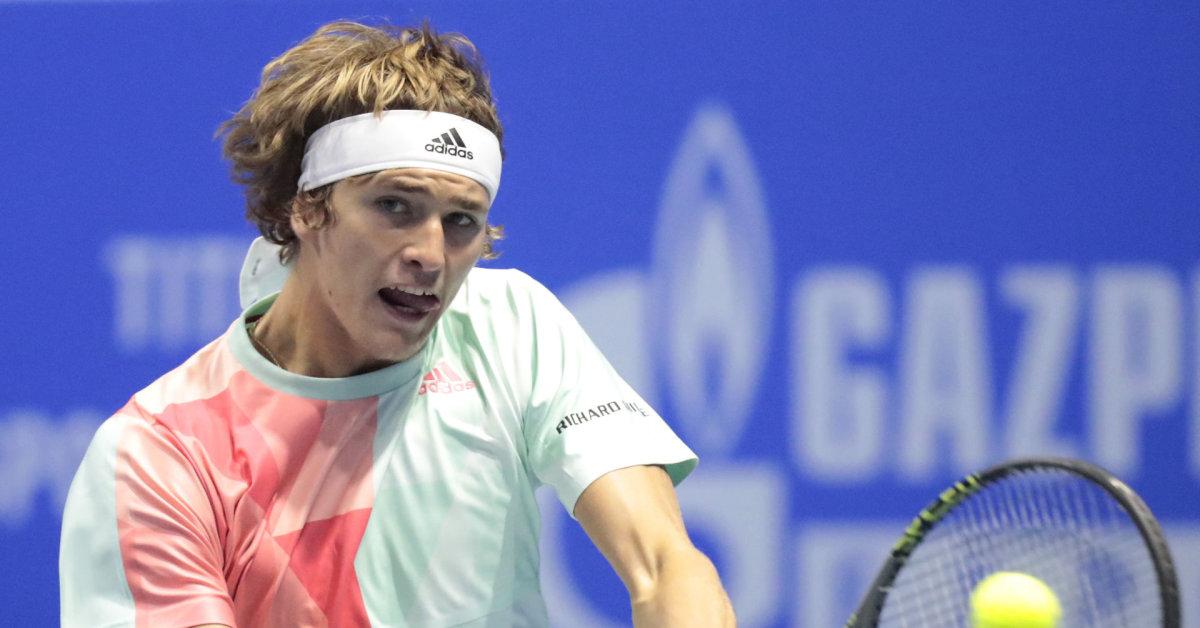 Sankt Peterburge – antra Alexanderio Zverevo pergalė prieš pirmo dešimtuko tenisininką - 15min