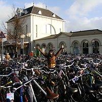 Būdama Olandijoje Sandra rado laiko ir pakeliauti. Nuotraukoje – Leeuwarden traukinių stotyje.