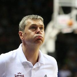 Alvydo Januševičiaus nuotr./Lietuvos krepšinio rinktinė įveikė Latviją. Ainaras Bagatskis