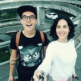 """""""Instagram"""" nuotr./Barbara Mori su sūnumi Sergio"""