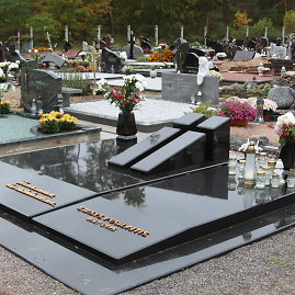 A.Jašinskienės/15min.lt nuotr./Stasio Povilaičio kapavietė