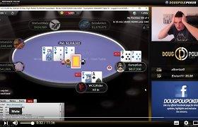 Vaizdo įrašas: pokerio meistras Dougas Polkas tiesioginiame eteryje laimėjo rekordinę sumą