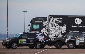 Dakaro dalyvių technika – jau Europoje