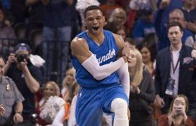 Russello Westbrooko šansai sezoną baigti renkant trigubą dublį – 81 proc.