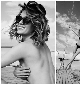 Astos Valentaitės fotosesija Nidoje: jachtoje įkūnijo modernią sireną