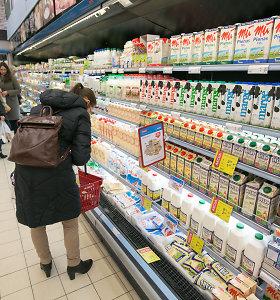 Parduotuvėse brangsta pieno produktai