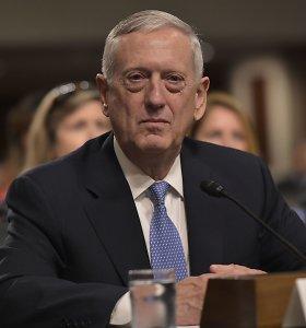 Pentagono viršininku D.Trumpo pasirinktas J.Mattisas sutinka su JAV buvimu Baltijos regione