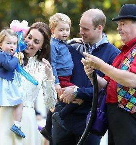 Kariškių šeimoms surengtos šventės dėmesio centre atsidūrė princas George'as ir princesė Charlotte