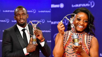 Geriausių sportininkų apdovanojimuose triumfavo U.Boltas ir S.Biles