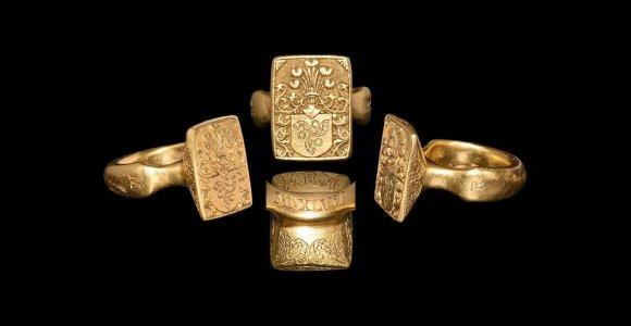 Vokiečių aukcionas meluoja apie parduodamą didiko Mikalojaus Radvilos Rudojo žiedą