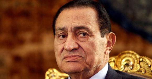 Buvęs Egipto prezidentas Hosni Mubarakas paleistas į laisvę