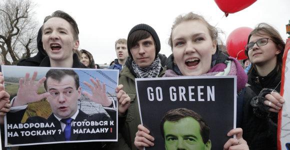 Pagrindinis protestų Rusijoje akcentas – V.Putino šalies gelbėtoju nelaikantis jaunimas