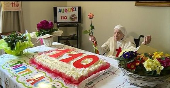 Seniausia Italijos vienuolė atšventė 110-ąjį gimtadienį