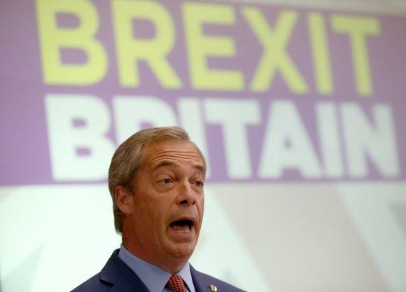 """""""Reuters""""/""""Scanpix"""" nuotr./Nigelas Farage'as"""
