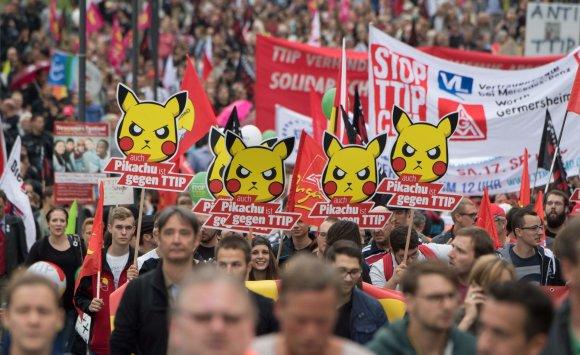 "AFP/""Scanpix"" nuotr./Protestas prieš TTIP"