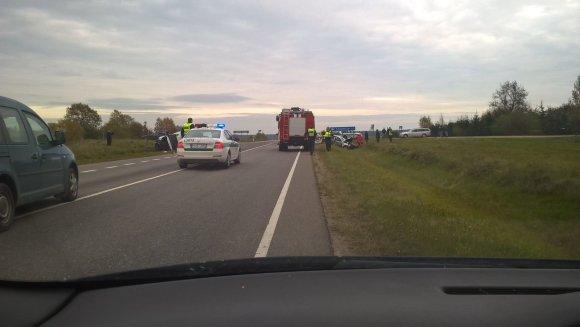 15min skaitytojo nuotr./Autoivykis kelyje Šiauliai-Palanga