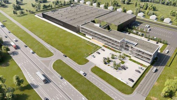 """""""JP architektūra""""/""""Aprangos"""" grupės nauja būstinė ir logistikos centras """"Vilniaus verslo parke"""""""