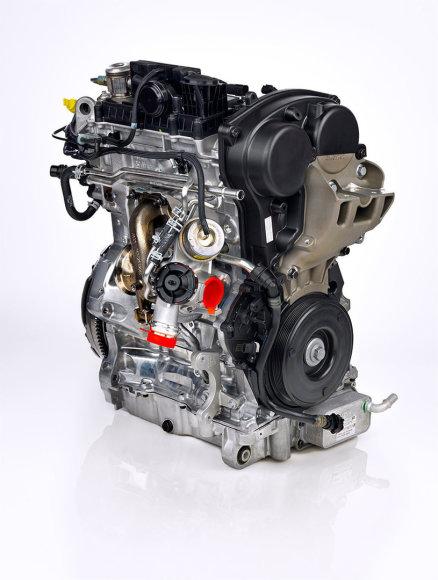 """""""Volvo"""" trijų cilindrų variklis"""