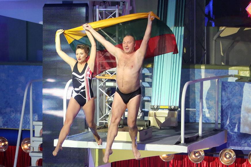 Jurijus Smoriginas ir jo dukra Agnė