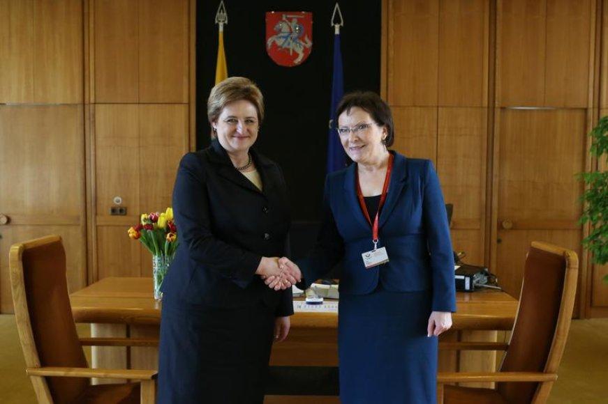 Loreta Graužinienė ir Ewa Kopacz