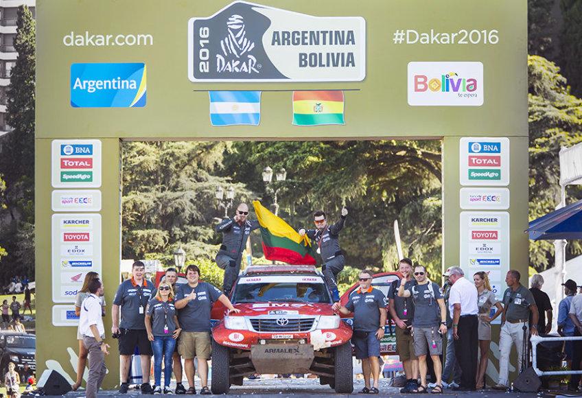 """""""Edas Racing Team"""" finišo podiumas"""