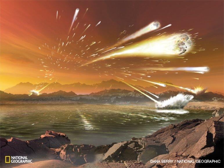 Žemė išgyveno kosminio bombardavimo košmarą
