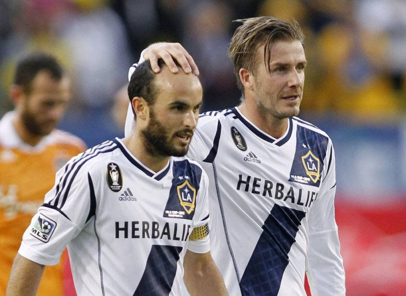 Landonas Donovanas ir Davidas Beckhamas