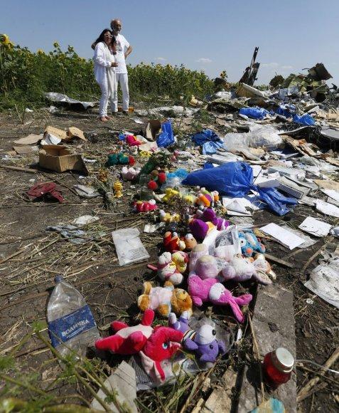 Vieta, kur sudužo numuštas Malaizijos oro linijų lėktuvas