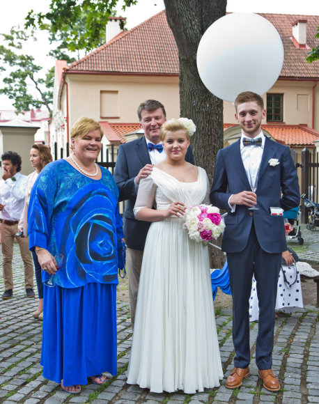 Laima Mertinienė, Dalius Mertinas, Laima Barbora Mertinaitė ir Lukas Gerbutavičius
