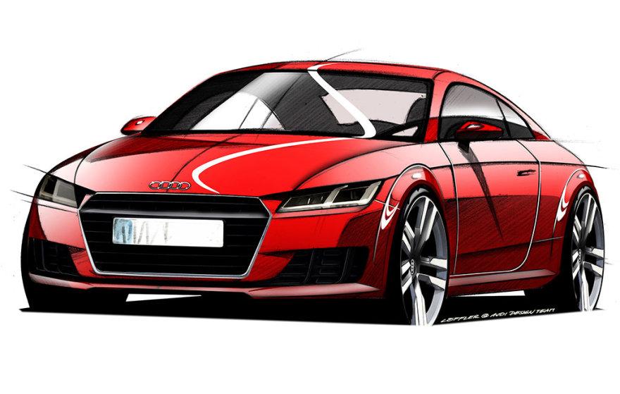 """Naujojo """"Audi TT"""" brėžiniai"""