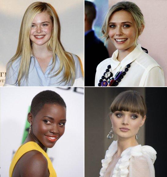 Elle Fanning, Elizabeth Olsen, Lupita Nyong'o ir Bella Heathcote