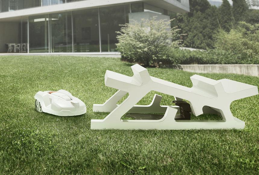 """Architekto iš Vokietijos namo projektas """"Automower"""" robotui. """"Husqvarna"""" nuotr."""