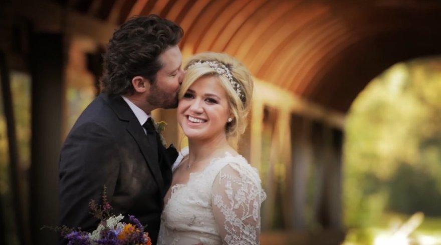 Kelly Clarkson ir Brandono Blackstocko vestuvės