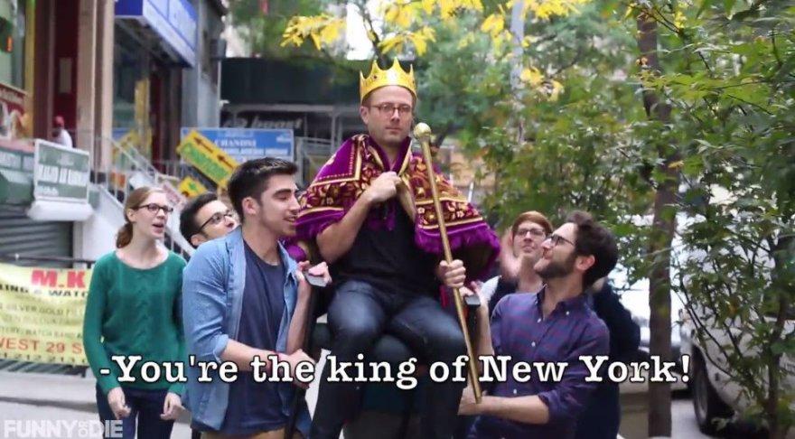 Parodija: ką reiškia būti vyru Niujorko gatvėse