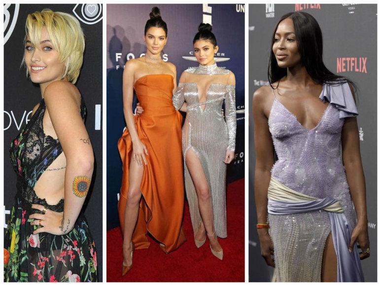 Paris Jackson, Kendall ir Kylie Jenner bei Naomi Campbell