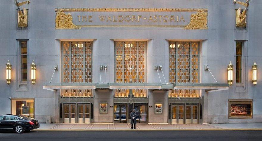 """Žymus viešbutis Niujorke """"Waldorf Astoria"""""""