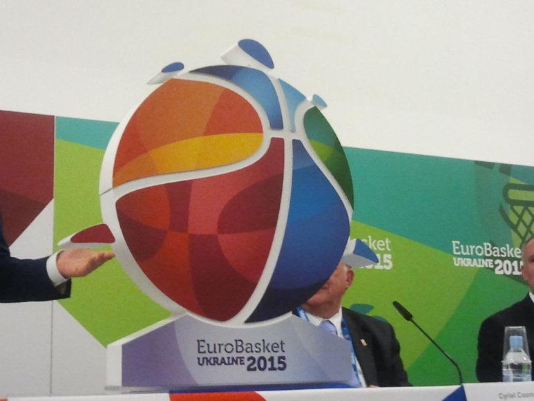 Eurobasket 2015 pristatymas - čempionato emnblema