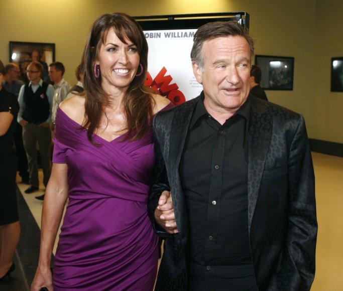 Robinas Williamsas su trečiąja žmona Susan Schneider (2009 m.)