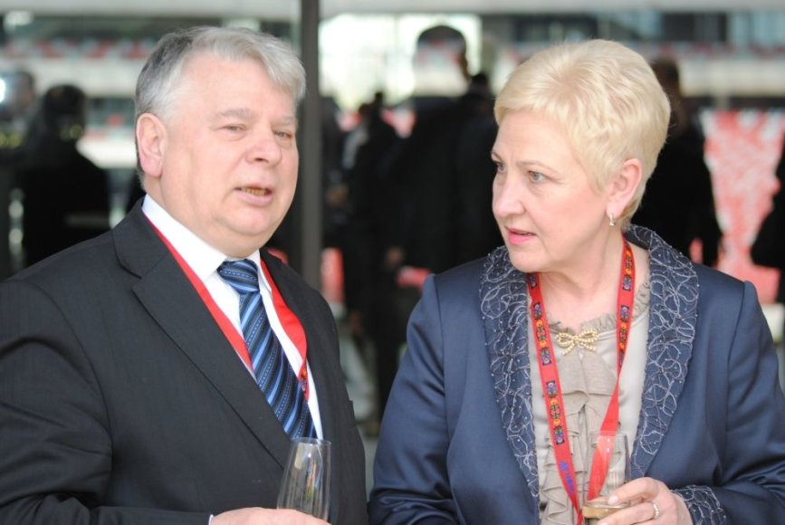 Seimo pirmininkė Irena Degutienė ir Lenkijos Senato pirmininkas Bogdanas Borusewiczius
