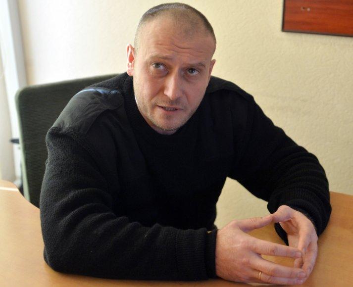 Ukrainos ultradešiniųjų grupuotės Dešinysis sektorius lyderis Dmytro Jarošas