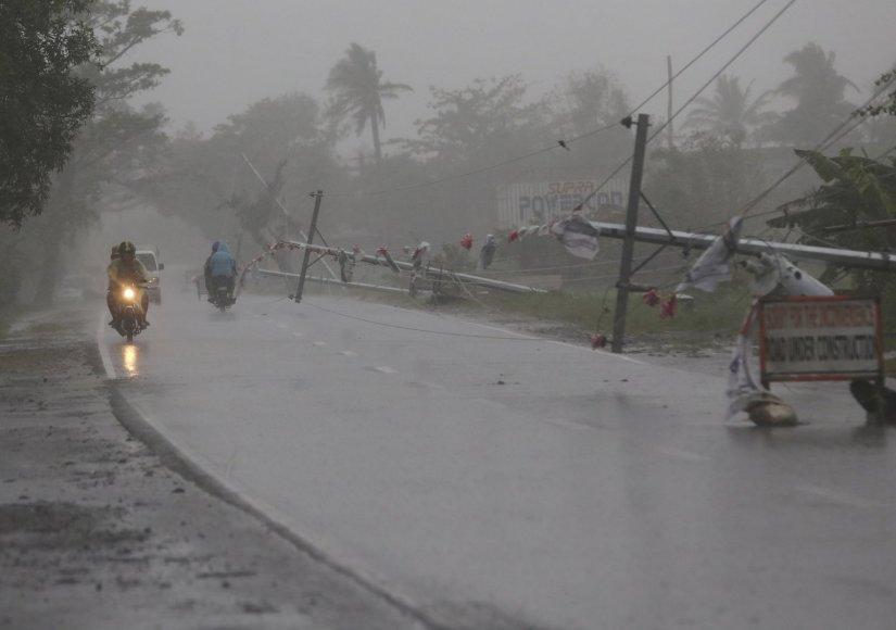 Taifūnas Hagupit pasiekė Filipinus