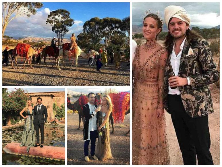 Diannos Agron ir Winstono Marshallo vestuvės Maroke