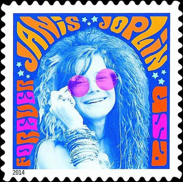 Janis Joplin pašto ženklas