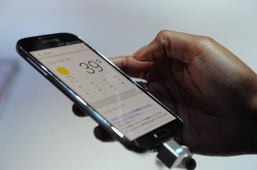 """Samsung Galaxy S4"" pristatymo akimirka"