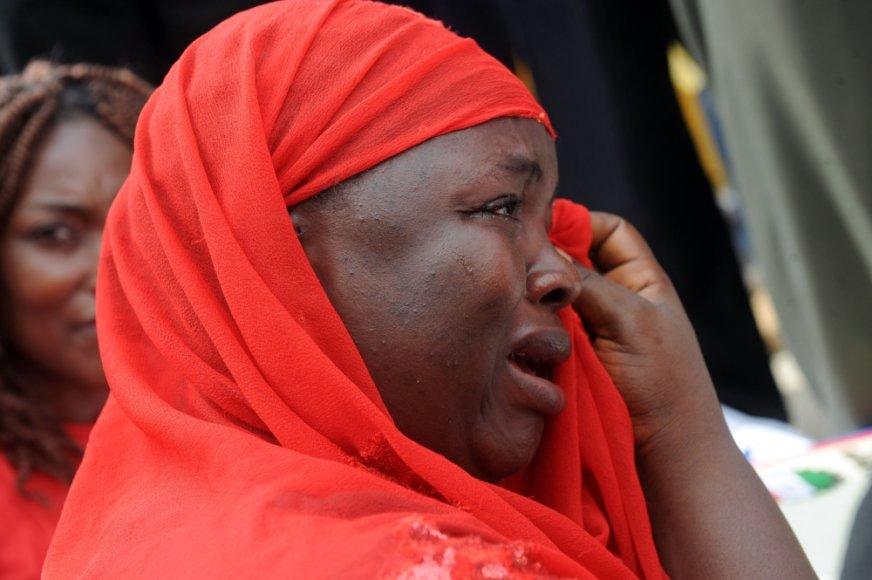 Vienos iš Nigerijoje pagrobtų mergaičių motina