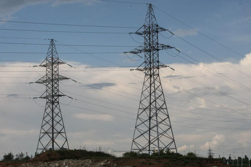 Aukštos įtampos elektros stulpai