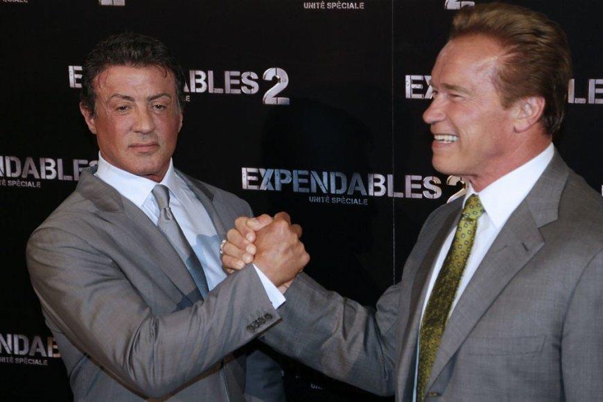 Sylvesteris Stallone (kairėje) ir Arnoldas Schwarzeneggeris