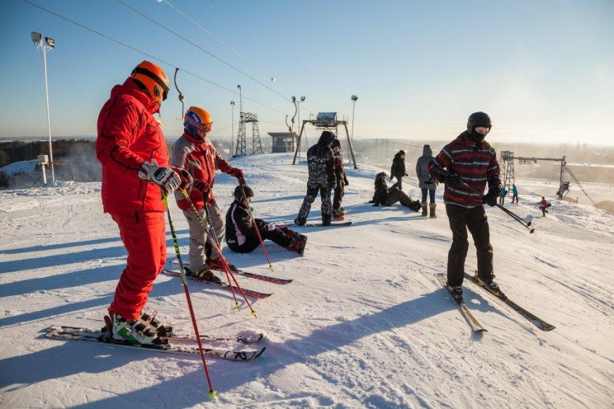 Liepkalnyje atidarytas slidinėjimo sezonas