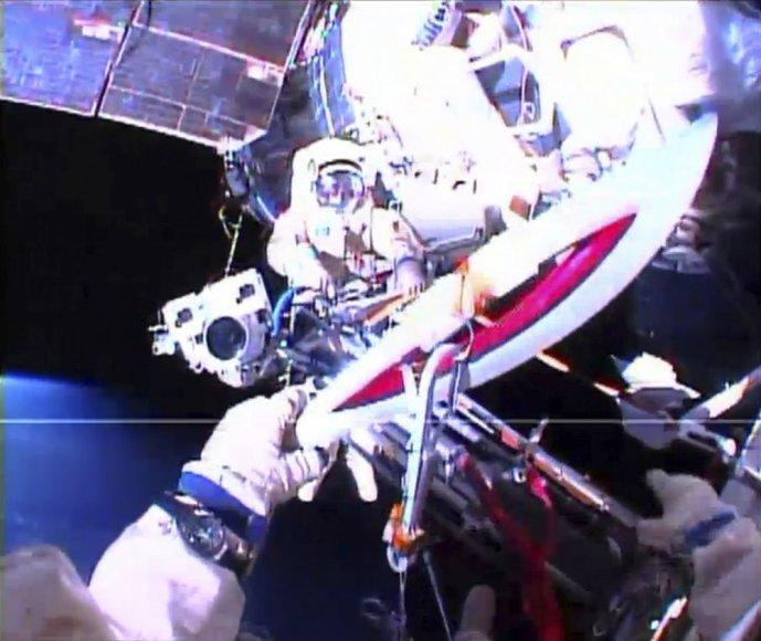 Sočio žiemos olimpinių žaidynių deglas kosmose
