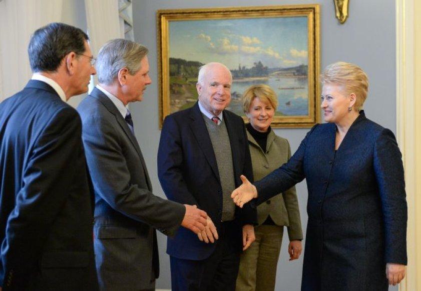 D.Grybauskaitė su JAV senatoriais